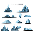 mountain polygonal set background vector image