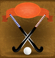 Old paper background with sticks for field hockey vector image vector image