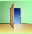 Opened door vector image vector image