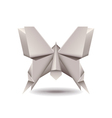 Origami butterfly isolated on white vector image vector image