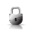 padlock us dollar vector image