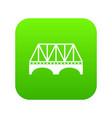 railway arch bridge icon green vector image vector image