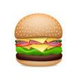 realistic hamburger classic burger vector image