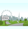 road to vienna vector image vector image