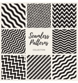 S Seamless Hand Drawn Wavy Lines Patterns vector image vector image