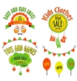 sale set for kids stores sale label for vector image