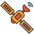 satellite internet communication flat icon vector image