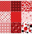 Set seamless vintage patterns vector image