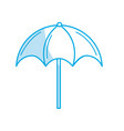 silhouette nice umbrella open to protect of sun vector image vector image