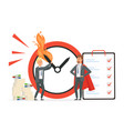 smart time management vs chaos concept vector image vector image