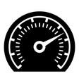 speedometer icon simple black style vector image
