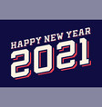 sport style modern professional happy new year vector image vector image