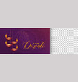 stylish diwali festival banner with image space vector image