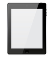 tablet on white background vector image