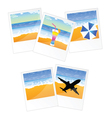 travel picture and frame vector image vector image