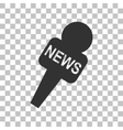 TV news microphone sign Dark gray vector image