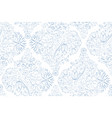 vertical flowerly tiles in white and blue vector image vector image