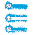 volleyball sport blank banners templates vector image vector image