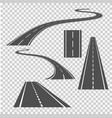 winding curved road direction or highway with vector image vector image