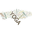 yoga an exercise for everyone text background vector image vector image