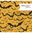 halloween seamless pattern bats silhouettes vector image