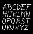 scratched doodle hand drawn letters font vector image