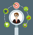Selection of business personnel vector image