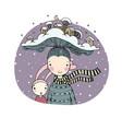 a fairy tale about cute cartoon girl vector image