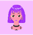 anime girl pixel art 8 bit objects fashion vector image