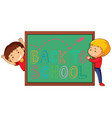 back to school template with student vector image