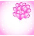 balloons backdrop vector image vector image