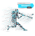 baseball player - color dot vector image vector image