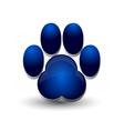 blue dog footprint paw icon logo vector image