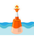 buoy in deep sea waters aids pilotage marking vector image vector image
