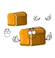 Cartoon whole grain bread character vector image vector image