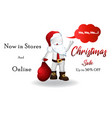 christmas santa claus -3d small people vector image vector image