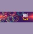 diwali fireworks sale background design vector image