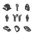 Family and Property Icons vector image vector image