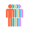 five human sign people symbol vector image vector image