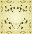 grape twig ornate for design labels vector image