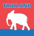 Graphic color symbol of the Kingdom of Thailand vector image vector image