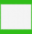 green and white rectangle border of cats paws vector image