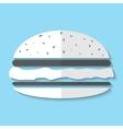 hamburger web icon vector image