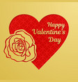happy valentine day greeting card or banner a vector image vector image