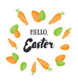 Hello easter holiday greeting card
