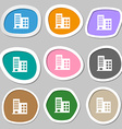 high-rise commercial buildings and residential vector image vector image