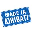 Kiribati blue square grunge made in stamp vector image vector image