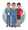 lawyers team cartoon vector image