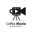 logo design coffee movie template vector image vector image