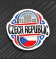 logo for czech republic vector image vector image